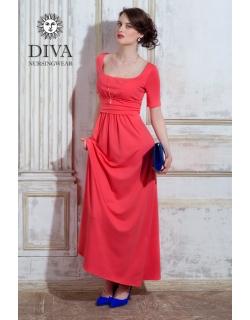 Платье для кормящих и беременных Diva Nursingwear Stella Maxi, Corallo