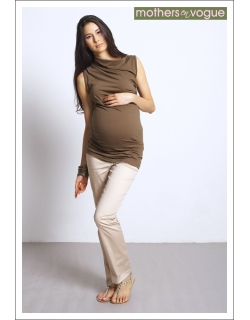 "Топ для беременных Mothers en Vogue ""Asymmetric Wrapture"", цвет ""сандал"""