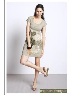 """Платье Mothers en Vogue """"Crisalis Print"""", цвет натур"""