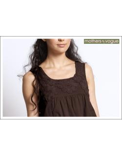 """Платье Mothers en Vogue """"Macrame Sundress"""", цвет коричневый"""