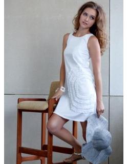 """Платье Mothers en Vogue """"Cotton Shift"""", цвет белый"""
