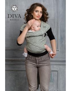 Май-слинг Diva Basico, Damasco с капюшоном
