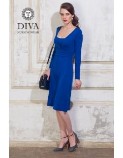 Платье для кормящих и беременных Diva Nursingwear Alba дл.рукав, цвет Azzurro
