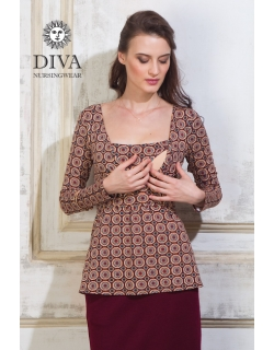 Топ для кормящих и беременных Diva Nursingwear Alba, принт Sole