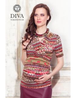 Топ для кормящих и беременных Diva Nursingwear Lucia, принт Etna