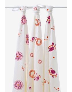 Бамбуковые пеленки для новорожденных Aden&Anais большие, набор 3, Pyara