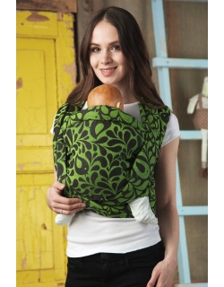 Слинг-шарф Птички, зеленый