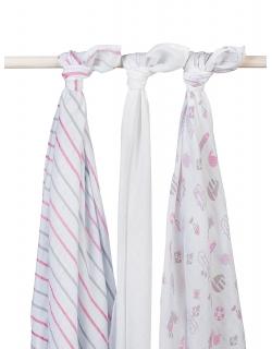 Муслиновые пеленки для новорожденных Jollein большие, Girls at sea (Девочки на море)