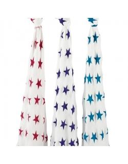Бамбуковые пеленки для новорожденных Aden&Anais большие, набор 3, Celebration