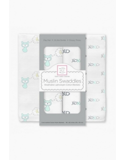 Муслиновые пеленки для новорожденных Swaddle Designs, SeaCrystal Fox XOXO