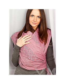 """Слинг-шарф YammyMammy (ями мамми) тканый, цвет """"розовый/черешня"""""""