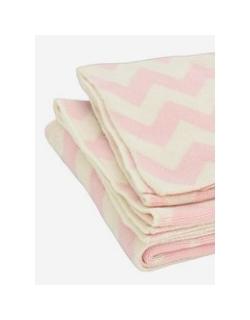 "Jollein вязаный плед для новорожденных, цвет ""pink/off-white"""