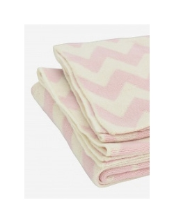 "Jollein вязаный плед для новорожденных, цвет ""pink/off white"""