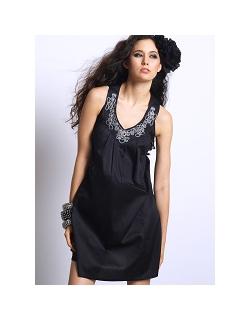 """Платье Mothers en Vogue """"Ara Embroidered"""", цвет черный"""