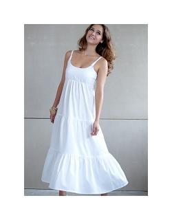 """Платье Mothers en Vogue """"Getaway Maxi"""", цвет белый"""