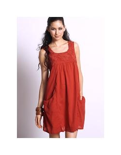 """Платье Mothers en Vogue """"Macrame Sundress"""", цвет оранжевый"""