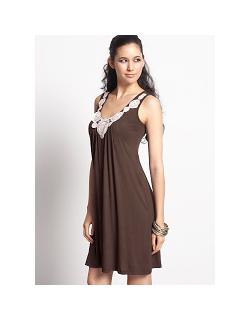 """Платье для кормления """"Zahra Applique"""", коричневый"""