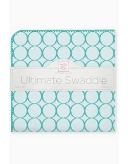 Фланелевая пеленка для новорожденного SwaddleDesigns кружки бирюза