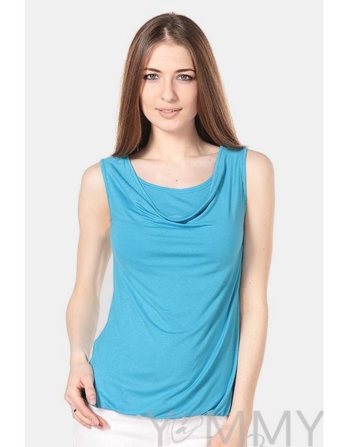 Блуза для кормящих и беременных с вырезом