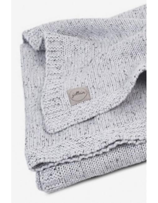вязаный плед для новорожденного Jollein Confetti серый большой