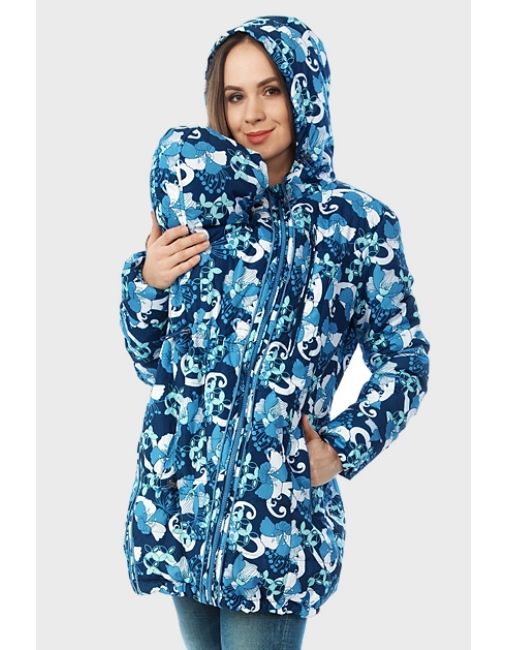 f5087b614533 Демисезонная слингокуртка Chelsea 3в1 ME, синие ирисы - цена, купить ...